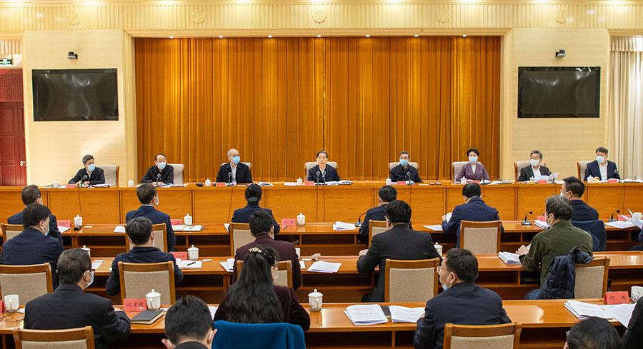 郭声琨在全国政法队伍教育整顿领导小组会议上强调