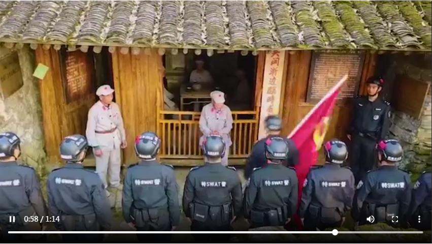 鲜红党旗百年飘扬 革命精神薪火相传